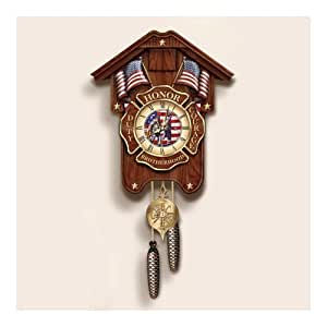 Heroes For All Time Firefighter Tribute Cuckoo Clock
