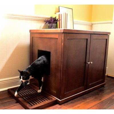 The Refined Litter Box Finish: Mahogany, Size: XLarge