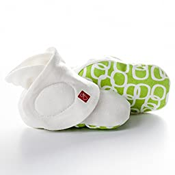 goumiboots - smart, stay on baby booties unisex - 1 pack S/M bubbles (lime)