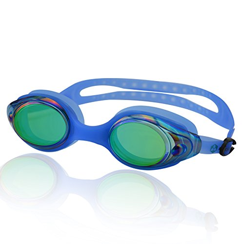 »Snake« Schwimmbrille / 100% UV-Schutz + Antibeschlag / Starkes Silikonband + stabile Box / Große Farbauswahl.