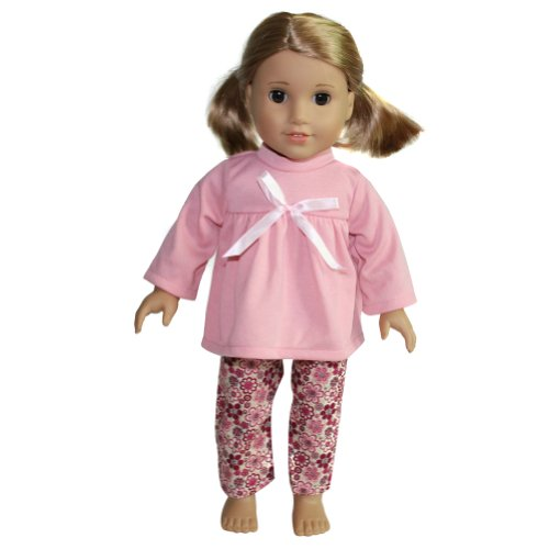 "18"" Doll Pink Pajama Set - 1"