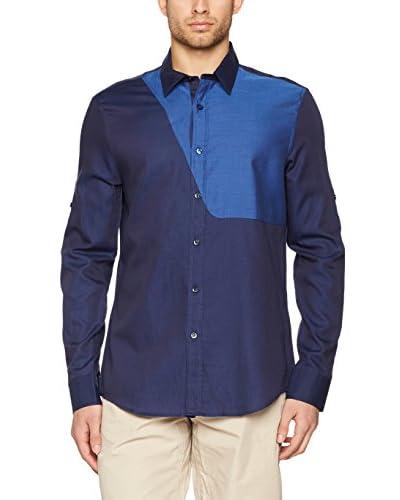 Dirk Bikkembergs Camisa Hombre Azul