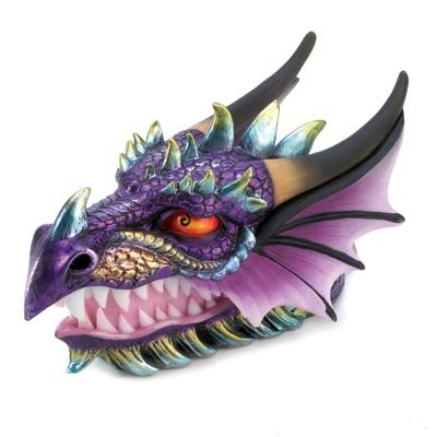 Gifts & Decor Ferocious Mythical Dragon Head Treasure Trinket Box