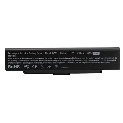 Click to buy NEW 11.1V 5200Mah Li-ION Notebook/Laptop Battery for Sony VAIO VGN-AR71L VGN-CR190N VGN-CR490EBW VGN-NR185E VGN-SZ56 VGP-BPL9/S Black - From only $59.99