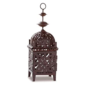 Gifts Decor Exotic Metal Moroccan Style Votive Candle Lant