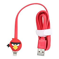 Cartoon Character Glowing LED USB Mobile Phone Charger for Apple iPhone iPad Data Cables