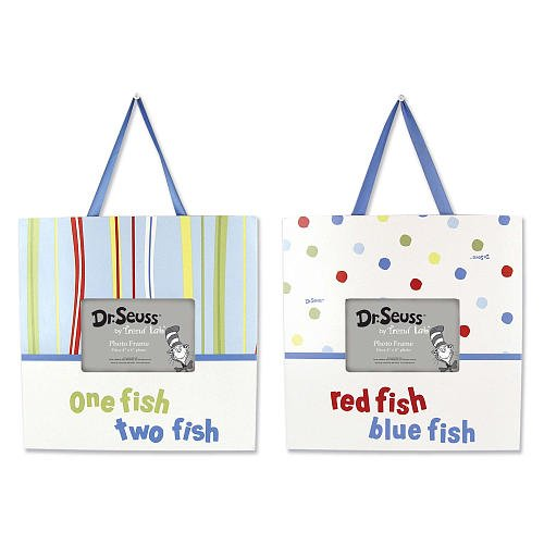 Trend Lab Dr. Seuss One Fish Two Fish 2-Piece Frame Set front-656959