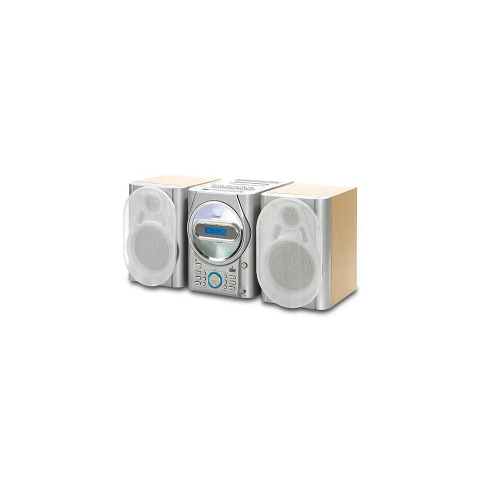 COBY CX CD410 MINI STEREO SYSTEM W/ CD,CASSETTE & RADIO