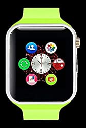 General AUX Smart Wrist Watch Touch Screen with Sim Card Slot (Green, Silver)