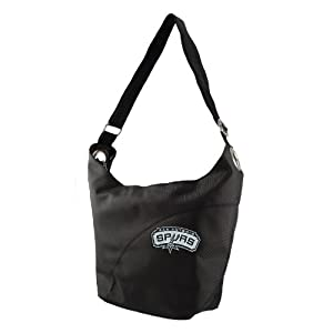 NBA San Antonio Spurs Ladies Colo Sheen Hobo Purse, Black by Littlearth