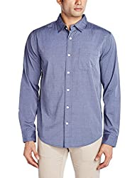 Fox Men's Casual Shirt (435664110038_435664_Medium_Petrol Blue)