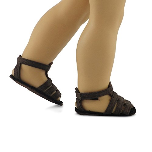 18 Inch Doll Clothes/clothing Brown Sandals Fits American Girl Dolls - 1