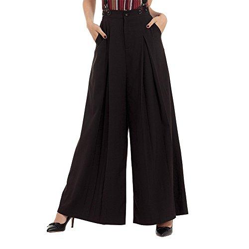 Pantaloni Shelley Braces Voodoo Vixen (Nero) - X-Small
