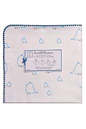 Swaddle Designs Ultimate Receiving Blanket, Blue Chickies