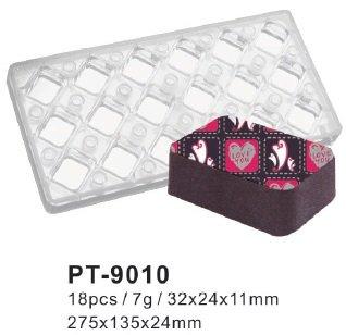Moule-en-silicone-Moule-Chocolat-magntique-Rectangle-dent-Coins-transparent