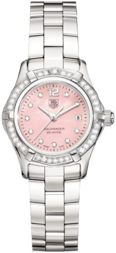TAG Heuer Women's WAF141B.BA0813 Aquaracer Diamond Accented Watch