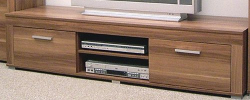 4-4-5-1975-made-in-BRD-Serie-AWKN-Lowboard-2-Klappen-2-Fcher-Kernnuss-dekor-TV-Schrank