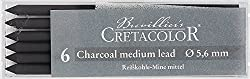 Cretacolor Artists' Charcoal Leads Medium (Set of 6)
