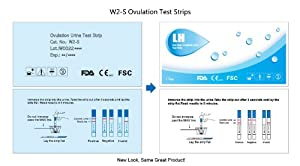 Wondfo 20 Early Detection (LH) Ovulation Strip Test Pack, 20-Count from Wondfo