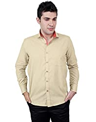 Zeal 100% Cotton Beige-Pink Casual-Formal Shirt
