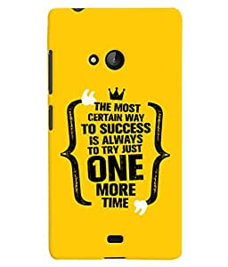 ColourCrust Microsoft Lumia 540 Mobile Phone Back Cover With Success Motivational Quote - Durable Matte Finish Hard Plastic Slim Case