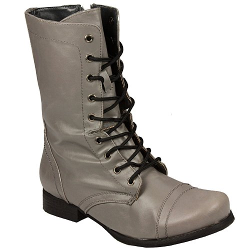 Odeon - womens Worker Boot in grey Casual Boots Women -