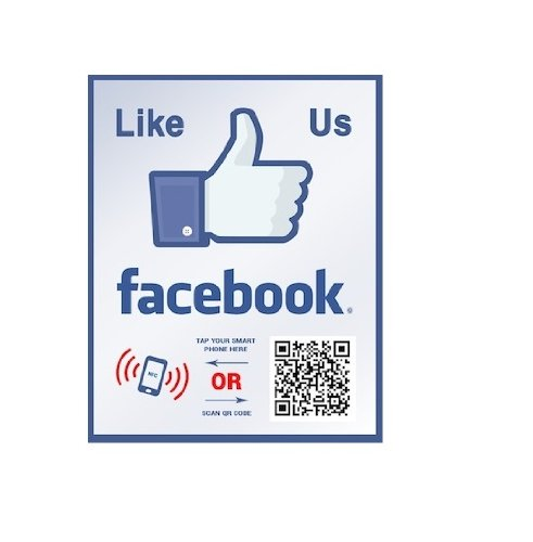 Facebook Like sticker – with NFC tag and QR code
