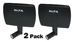2 Pack of Alfa 2.4HGz 7dBi Booster SMA Panel High-Gain Screw-On Swivel Antenna for D-Link DI-514 DI-524 DI-614 DI-624 DI-624S DI-624M DI-711 DI-713P DI-714 DI-714P DI-724U DI-764 DI-774 DI-824VUP DP-311P DP-311U DP-313 DP-G321 DP-G310 DP-G321 DPG-2000W DSL-G604T DSM-604H DSM-622H DSM-624H DWL-1000AP DWL-1700AP and DWL-1750