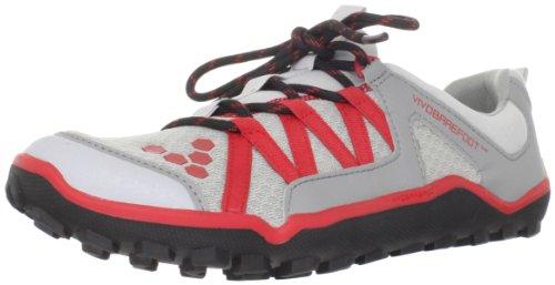 Vivobarefoot Men's Breatho Trail M Light Grey/Red Trainer VB220024MGRYRED 11 UK, 45 EU