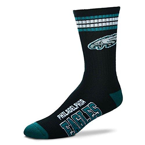 NFL 4 Stripe Deuce Socks - Men's Large (fits 10-13) (Philadelphia Eagles) (Nfl Football Hoodies compare prices)