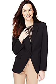 Notch Lapel 1 Button Jacket