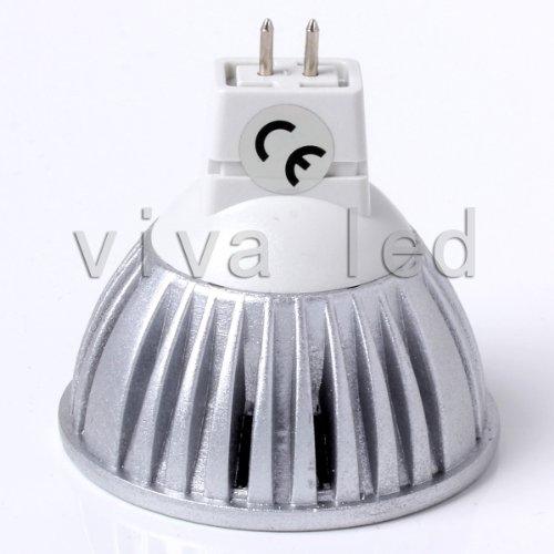 Top 6W Led Cree Mr16 Gu10 Spot Light Down Lamp Bulbs Cool White Warm White Replace 50W Halogen 12V 110V 120V (Mr16 Warm White 12V)