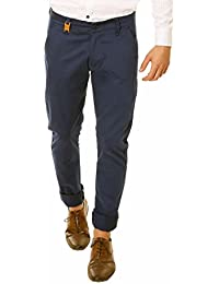 Nimegh Royal Blue Color Slim Fit Cotton Casual Trouser For Men's