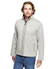 North Coast Flecked Zip Through Fleece Top