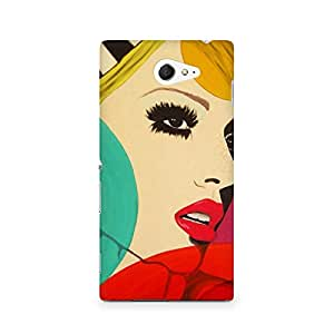 Ebby Vintage Chick Premium Printed Case For Sony Xperia M2 S50h