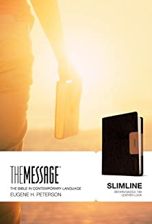 The Message Slimline lthrlok brn/saddle tan