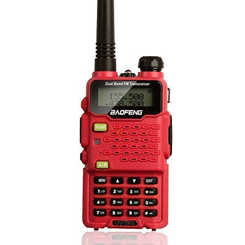 Two Way Radio,Baofeng Walkie Talkie UV-5R5 5W Dual-Band Two-Way Ham Radio Transceiver UHF/VHF 136-174/400-520MHz,65-108MHz FM with Upgraded Earpiece,Built-in VOX Function,Battery,Charger - Red (Car Battery Size 25 compare prices)