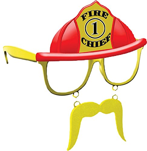 Morris Costumes SG1533 Sunstache Fire Chief Cl