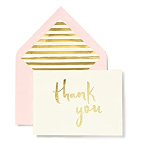 kate spade york Bridal Note Card Set - Thank You (Gold) by kate spade york by kate spade new york