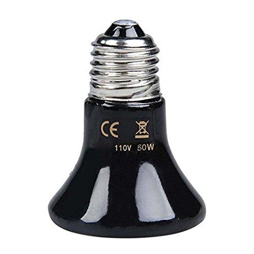 Generic Heat Infrared Lamp Bulb Mini Black Ceramic Heat Infrared Lamp Bulb 110V 50W (50 Watt Heat Lamp compare prices)