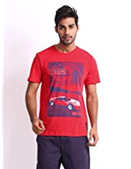 Puma Men Ferrari Printed T-shirt Red - 56544502