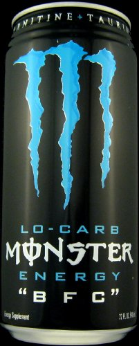 5 Pack - Monster Lo-Carb BFC Energy Drink - 32 oz.