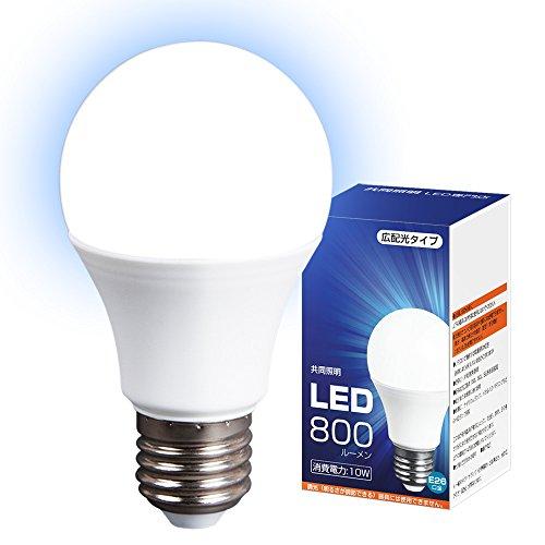 LED電球 60W形 広配光タイプ 光の広がるタイプ 26mm 26口金 一般電球 (GT-B-10W-E26-1)昼光色 e26 60w相当 led 照明器具 led照明 10W 消費電力 長寿命 LED