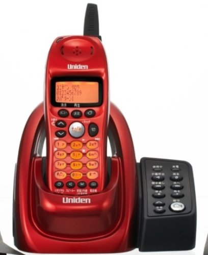【Amazonの商品情報へ】Uniden デジタルコードレス留守番電話 メタリックレッド UCT-002(R)