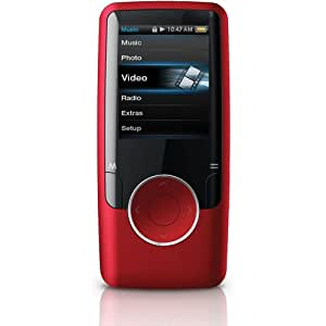 Coby MP620 4 GB Video MP3 Player with FM Radio (Red) (Discontinued by Manufacturer)