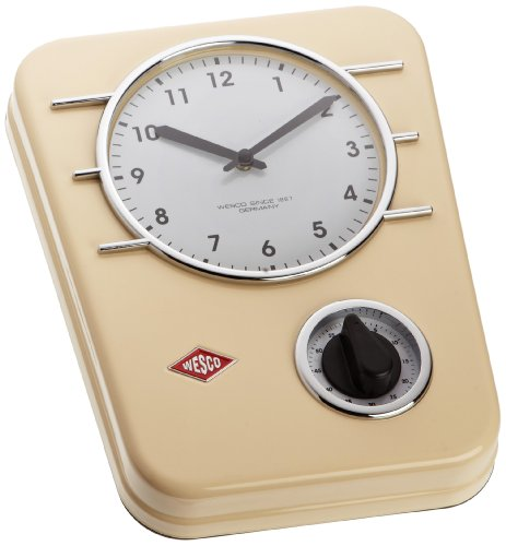 Wesco Classic Line Kitchen Clock - Almond