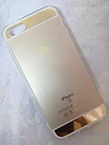 BESDEALS IN - Fashion Luxury Mirror and Metal Cover TPU Soft Case iPhone 5 / iPhone 5s - Gold