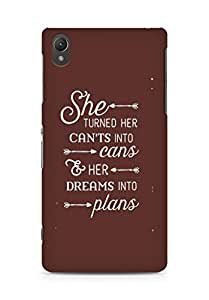 AMEZ cants into cans dreams into plans Back Cover For Sony Xperia Z2