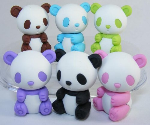 Japanese Iwako Erasers-Pandas