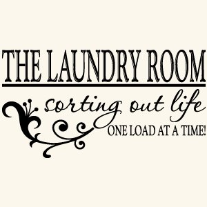 Amazon.com - Laundry Room Quote Vinyl Wall Decal Sticker Art-Home